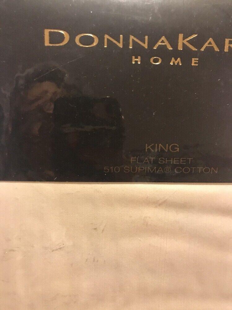 womenKaran Home King Flat Sheet 510 Supima  Cotton Champagne New