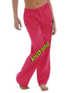 Teal Color Satin Unisex Lounge Sleep Pajama Pants Adult Women Sissy India Maid