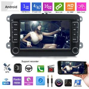 Autoradio-Bluetooth-Android-8-1-GPS-Navi-2-DIN-Fuer-VW-GOLF-V-Variant-PASSAT-Polo
