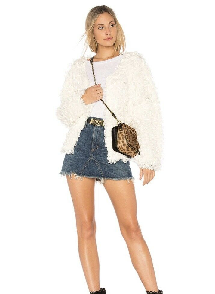 Callahan Wubby Loopy Statement Jacket Open Draped Front   246 NWT Ivory Größe S