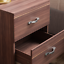 thumbnail 6 - Riano Bedside Cabinet Walnut 2 Drawer Metal Handles Runners Bedroom Furniture