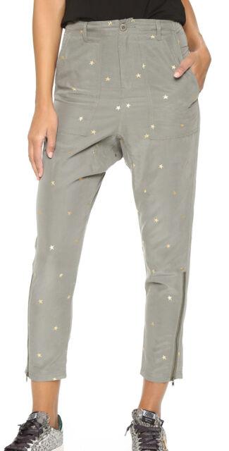 Sass Bide Remix Future Star Army Green Gold Star Slim Pants Sz 2 Nwt 350 For Sale Online