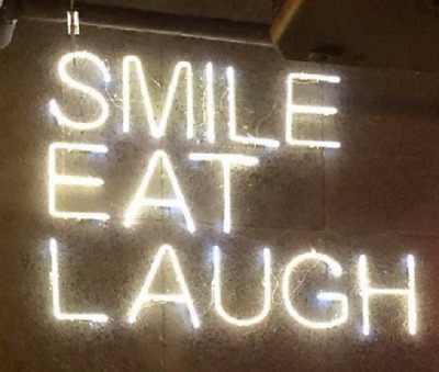 """New Smile Eat Laugh Gift Acrylic Light Lamp Neon Sign 17/"""""""