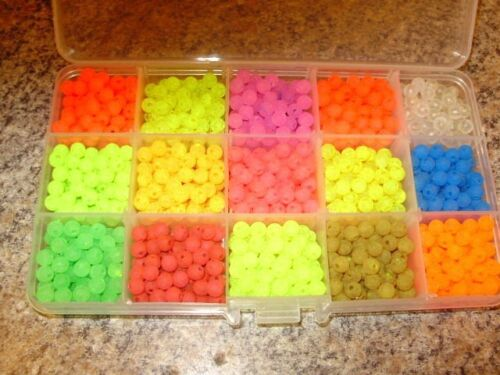 15 Color SUPER UV 6mm TROUT & STEELHEAD  BEAD BOX Free Beads Included!! $12.95