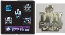 SUPER BOWL 52 CHAMPIONS PIN SET EAGLES 6 PC SUPERBOWL LII NFL CHAMPIONSHIP SET