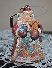 New DeBrekht Derevo MY 1st CHRISTMAS Ornament Figurine Scenic Painting Boy Santa