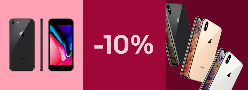 -10% auf iPhones und Zubehör – Zu den Modellen - -10%* auf iPhones und Zubehör