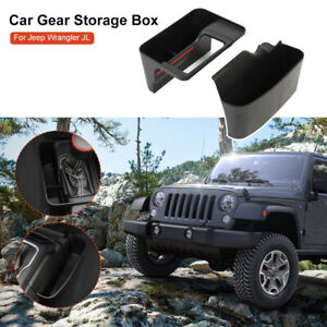 Plastic-Gear-Shift-Side-Storage-Box-Tray-Holder-For-Jeep-Wrangler-JL-18-19