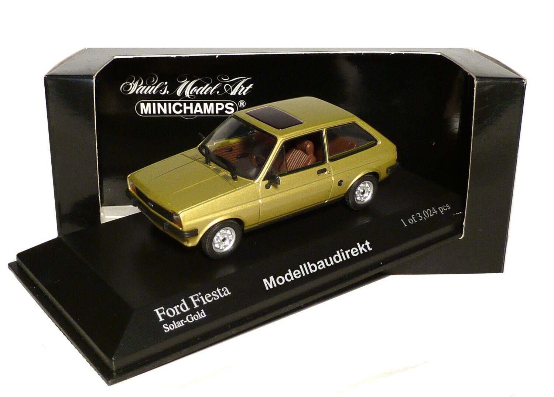 Ford Fiesta in gold Metallic Bj 1976 1 43 Minichamps 400085100 NEU & OVP