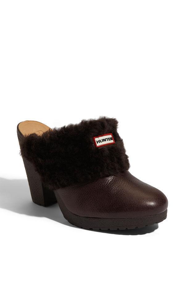 Cazador de  219 real de de piel de de oveja piel forrada Zapatos suecos Marrón Plataforma Zapato 10 Nuevo bfd2f5