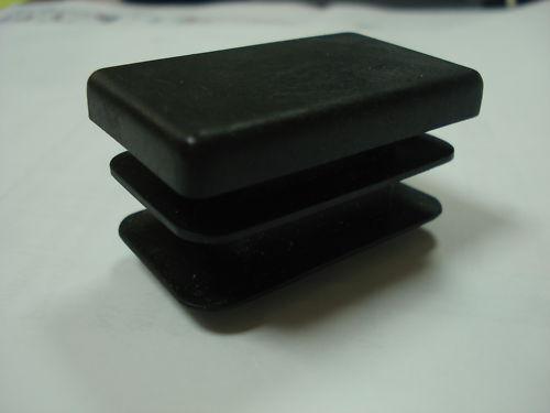 Lot de 10 embouts bouchons noirs PVC pour tube 40x27 mm rectangulaires ailette