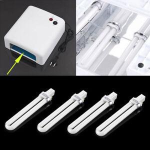 4x9W Lámpara UV Tubo Bombilla Gel Manicura Secador Recambio de Curado 365nm