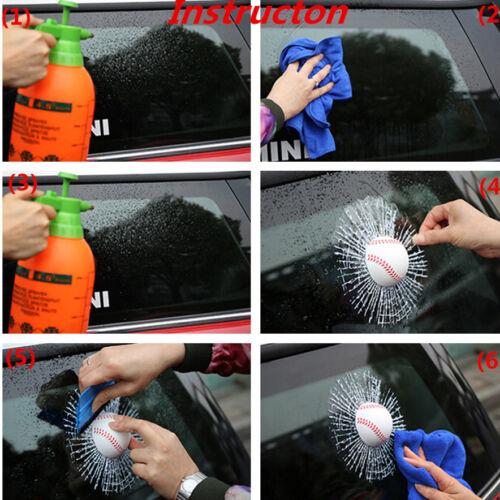 3D Simulation Baseball Hit Broke Car Window Body Adhesive Sticker Crack Decal
