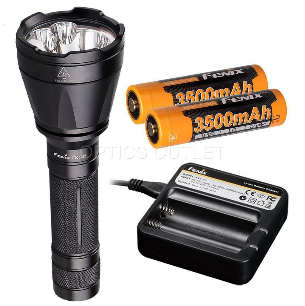 Fenix TK32 2016 Ed.1000 Lumen LED Flashlight w 2x 3500mAh 18650 & AREC1 Charger