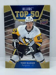 2019-20-Upper-Deck-Allure-Top-50-Card-T50-46-Teddy-Blueger-Pittsburgh-Penguins