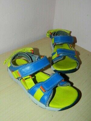 100% Vero Ragazzi Clarks Blu/lime Verde Sandali Con Elementi Di Fissaggio Uk 11 G Di Eur 29 * In Buonissima Condizione-mostra Il Titolo Originale