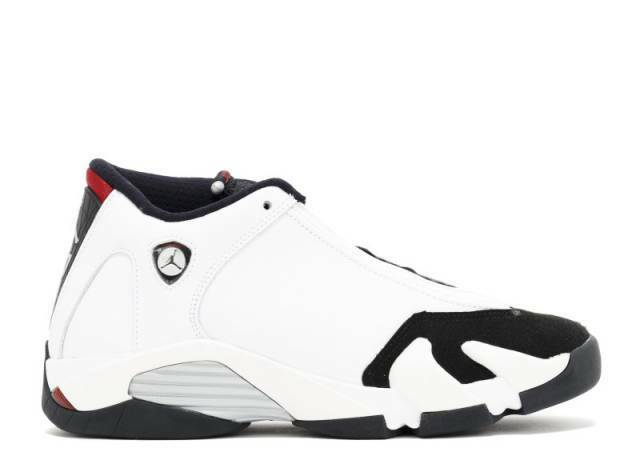 Air Jordan 14 XIV Black Toe White size 7Y 7. 654963-102.