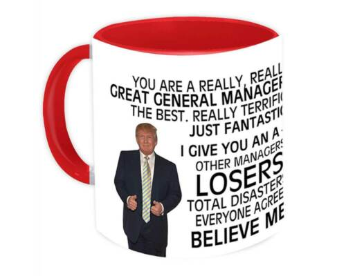 Mug Great Birthday Christmas Jobs Details about  /GENERAL MANAGER Gift Funny Trump