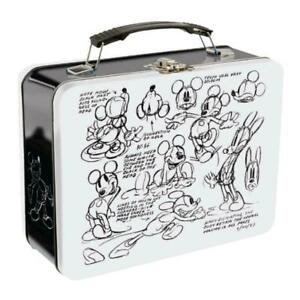 Disney-Mickey-Mouse-Sketch-Large-Tin-Tote-Retro-Lunch-Box-Travel-Metal-Gift