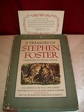 1946 A TREASURY OF STEPHEN FOSTER 1ST PRINTING HARDCOVER BOOK WITH DUST COVER