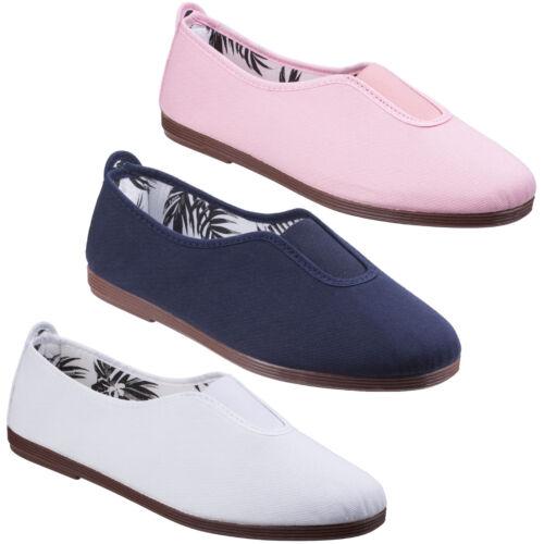 Flossy Califa Espadrilles Womens Summer Slip On Canvas Pumps Plimsoles Shoes