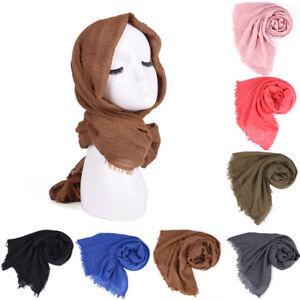 Premium-Viscose-Maxi-Crinkle-Cloud-Hijab-Scarf-Shawl-Soft-Islam-Muslim-New