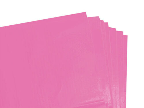 50 X SHEETS OFCERISE PINK COLOURED ACID FREE TISSUE PAPER 375mmx500mm//QUALITY