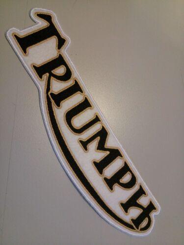 Grande Broderie Sew-on patch triumph Choisissez Color Light Gold ou Pistolet Gris métal