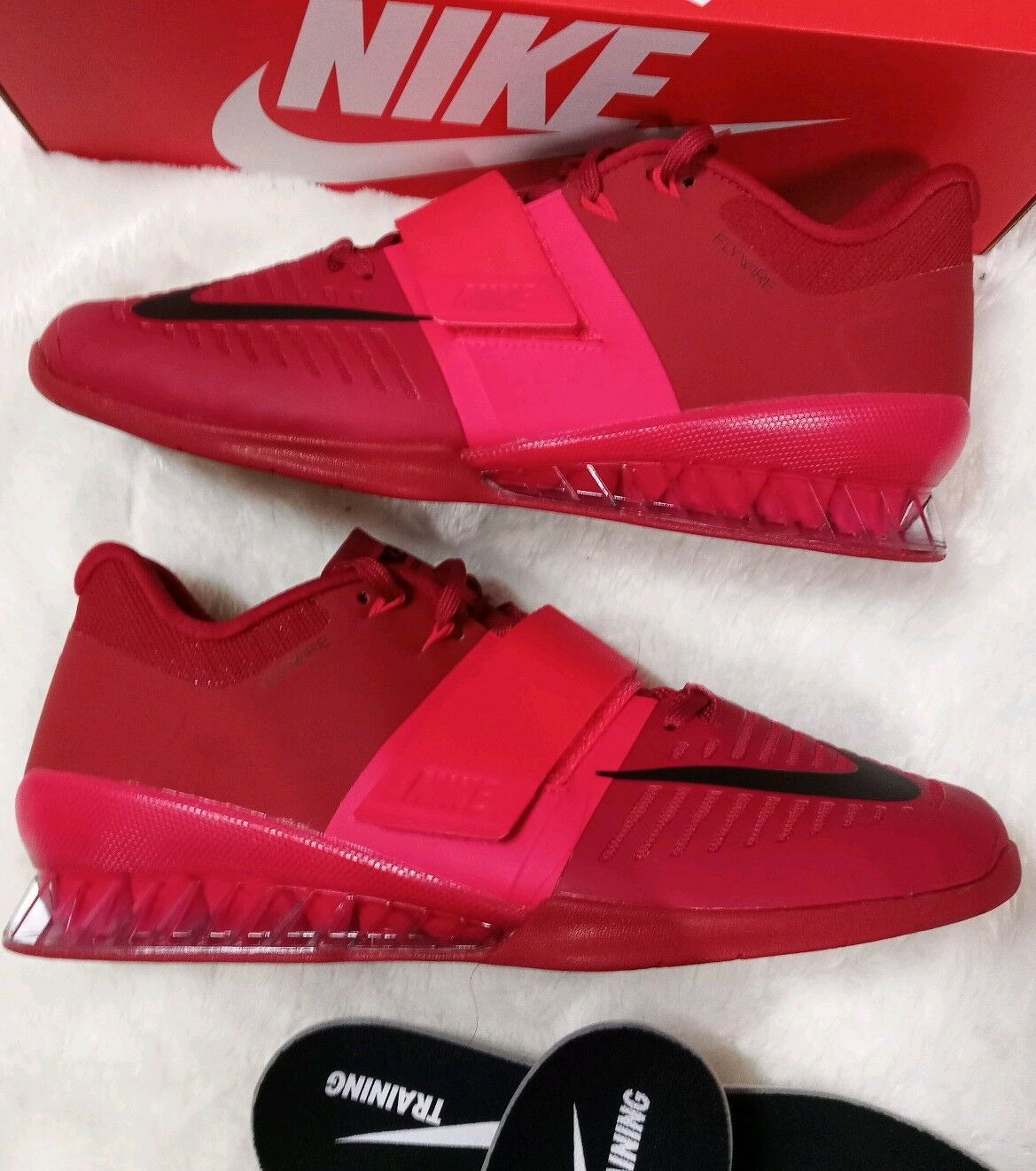 11.5 Siren MEN'S Nike Romaleos 3 Siren 11.5 Red Training Weightlifting GYM Shoes 852933 601 1466ff
