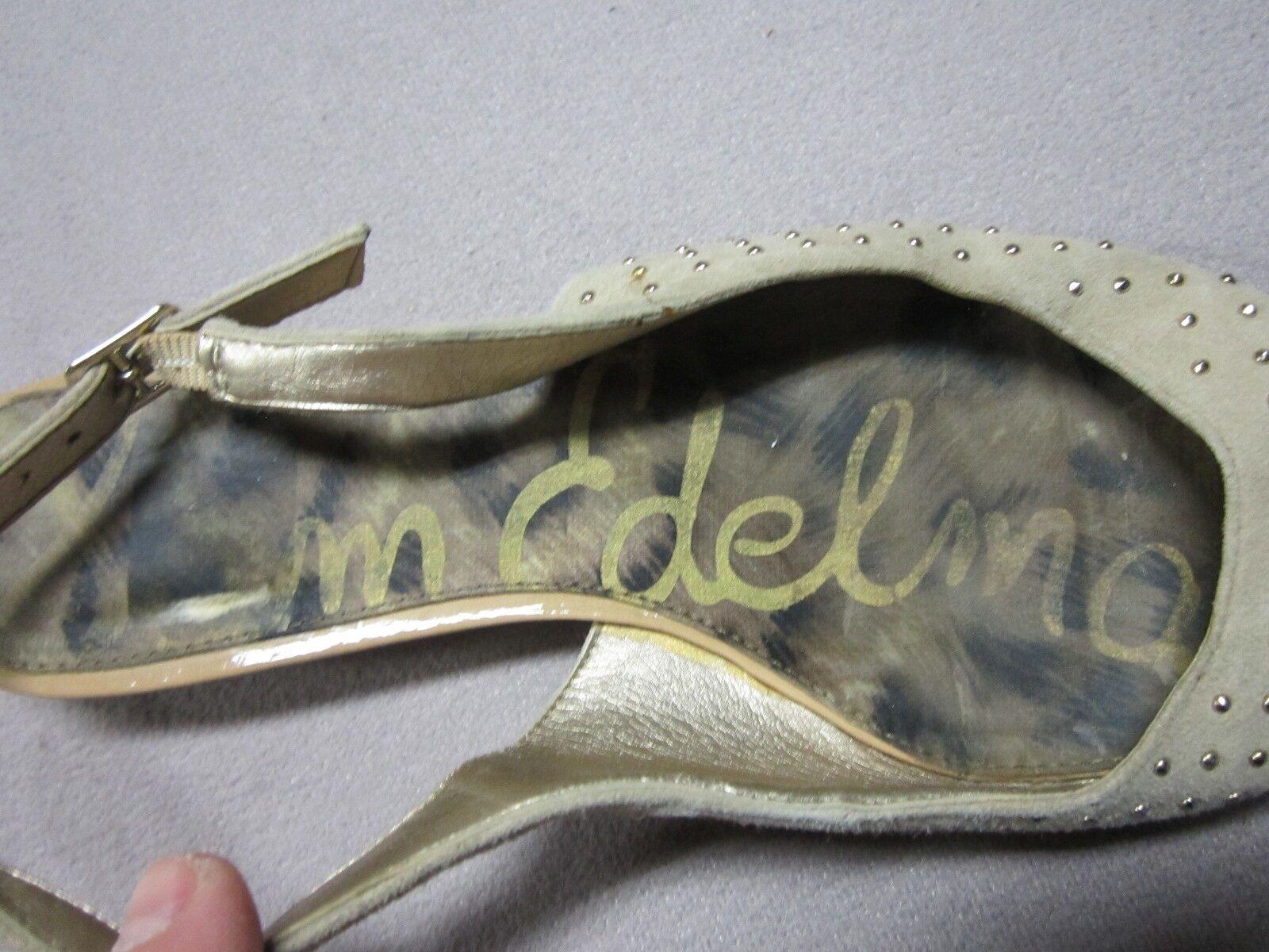 SAM SLINGBACK EDELMAN IDAHLIA Donna RARE STUDDED SLINGBACK SAM NATURAL SLIP ON SHOES SIZE 7.5 924428