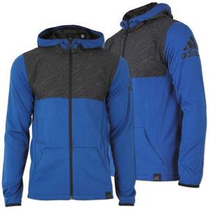 Details zu adidas Herren Climalite Jacke Trainingsjacke S1 Mix Fabric Kapuze Hoodie Running
