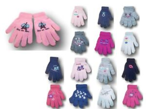 Baby Girls Toddler Children Kids Winter Acrylic ABS Gloves Size 12m to 10 Years