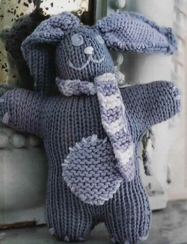 2597 Easy Knit  Rabbit Toy Aran H25cm Knitting Pattern
