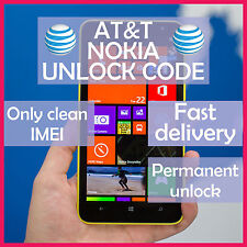 ATT Unlock Code Service Nokia Lumia 520 521 635 820 830 900 920 1520 2520 AT&T