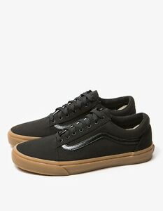 Vans-Shoes-Old-Skool-Canvas-Black-Gum-USA-Size-Skateboard-Sneakers-FREE-POST