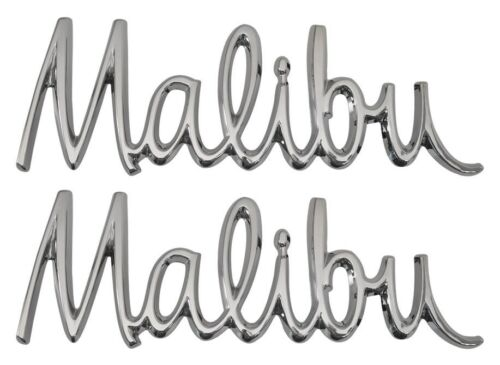 "1968 Chevelle Malibu Front Fender Script /""Malibu/"" Emblem Pair"