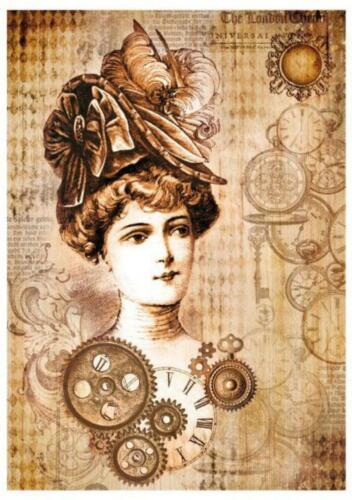 1 REISPAPIER Damen DIN A4 bedruckte Motiv-Strohseide 28 g//m² STAMPERIA