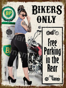 30x40cm Pinup Miss Rebecca Rose Quote Humour Funny Rustic Tin Sign