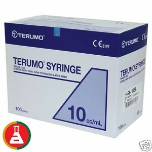 200-x-10ml-Terumo-Syringe-SLIP-TIP-Syringes-only-No-Hypodermic-Needle-Exp-2022