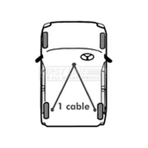 FKB1138 Genuine OE Quality First Line Left//Right Handbrake Cable
