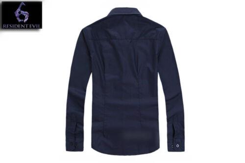 Resident Evil 6 Leon·Scott Kennedy Male Long sleeve shirt Tops costume cosplay
