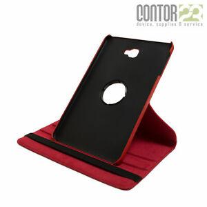 """360° Schutzhülle, Tasche, Case in ROT für 10.1"""" Samsung Galaxy Tab A A6  2016"""