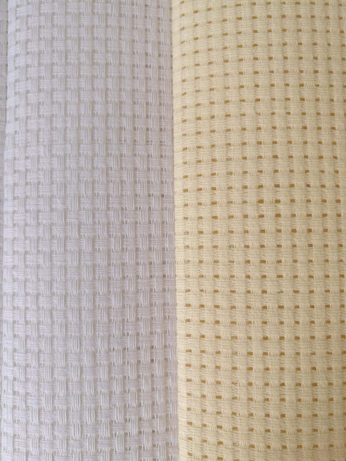 White 3.5 count Turkestan Binca  Aida 100 x 70 cm Zweigart great for cushions