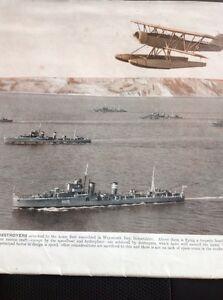 49300-Ephemera-1939-Picture-Royal-Navy-Home-Fleet-Weymouth-Bay-Dorset