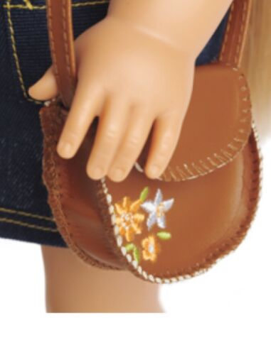 """New American Girl 18/"""" Julie Doll Floral Accessory Cross-Body Embroidered Purse"""