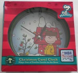 NEW PEANUTS CHRISTMAS CAROL CLOCK Plays 1 Of 12 Carols ...