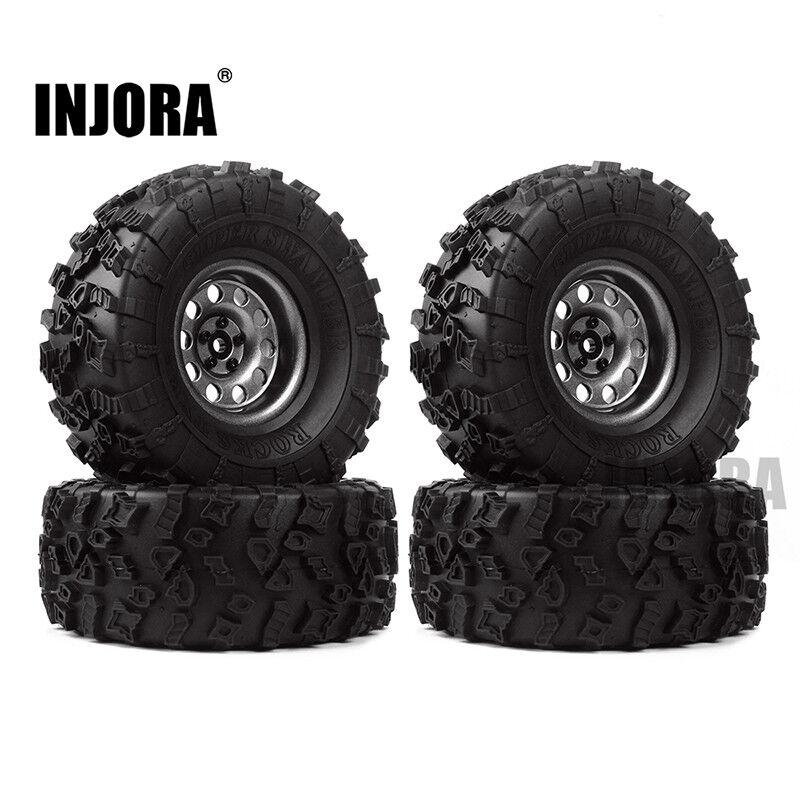 4PC 2.2  Neumáticos beadlock rueda para 1 10 rc crawler Axial Wraith Yeti RR10 TRX4 regimiento