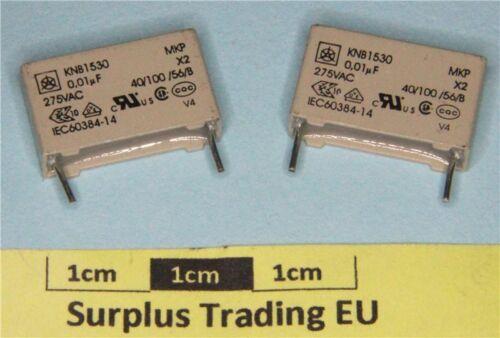 ISKRA KNB1530 0.01µF 275Vac X2 RFI Condensatore MKP supression pacco da 2
