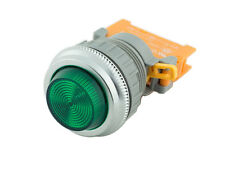 PLN-30 Green 30mm Pilot Panel Indicator Light LED Lamp 120V AC/DC