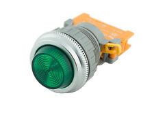 PLN-30 Green 30mm Pilot Panel Indicator Light LED Lamp 120V AC/DC